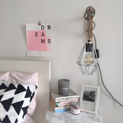 How to create an easy budget-friendly bedside wall lamp.